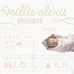 Millie's 1st Year Infographic