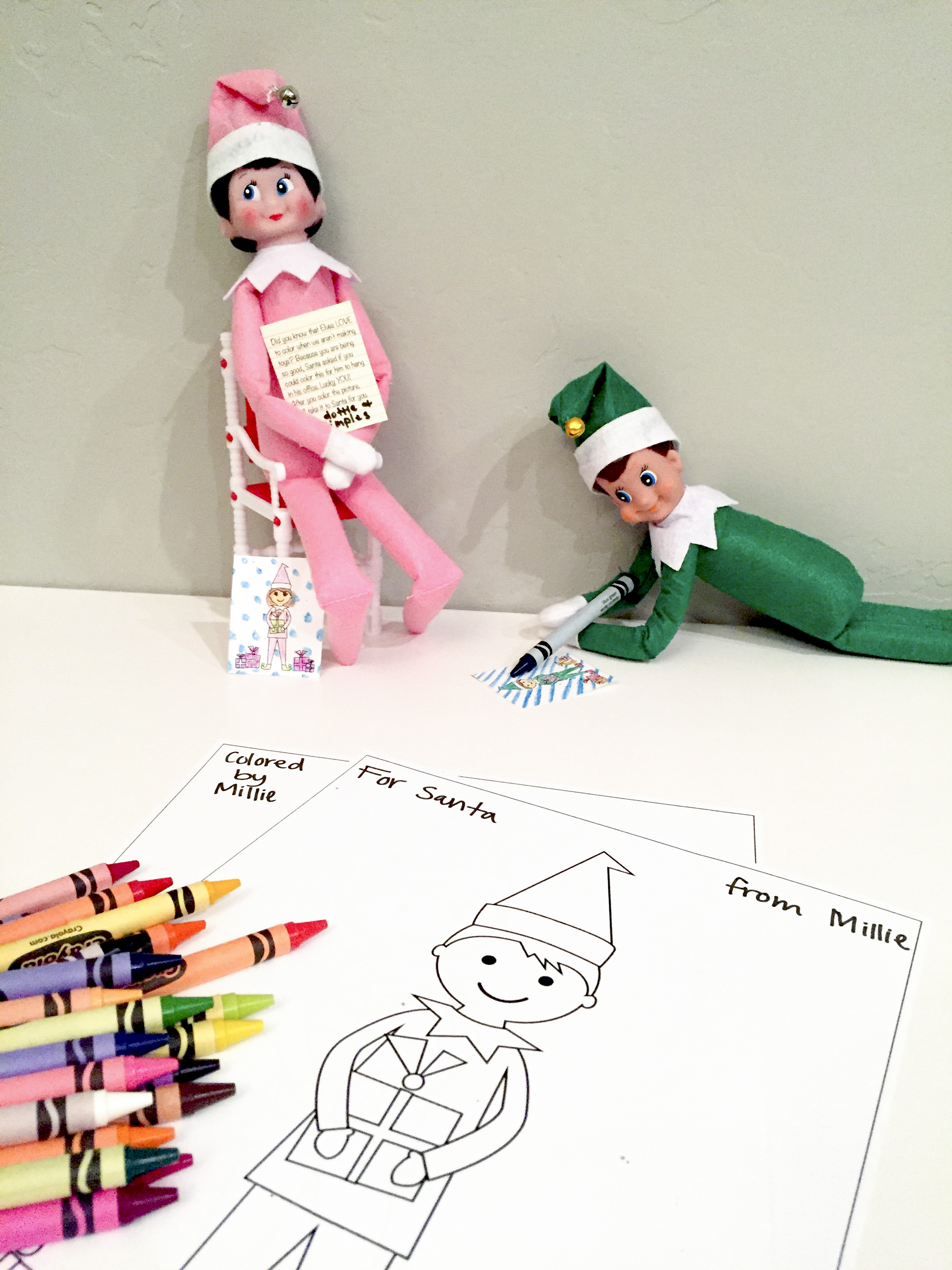 Elf On The Shelf Coloring Pages Elf On The Shelf Free Printable Coloring Sheets  Smudgey