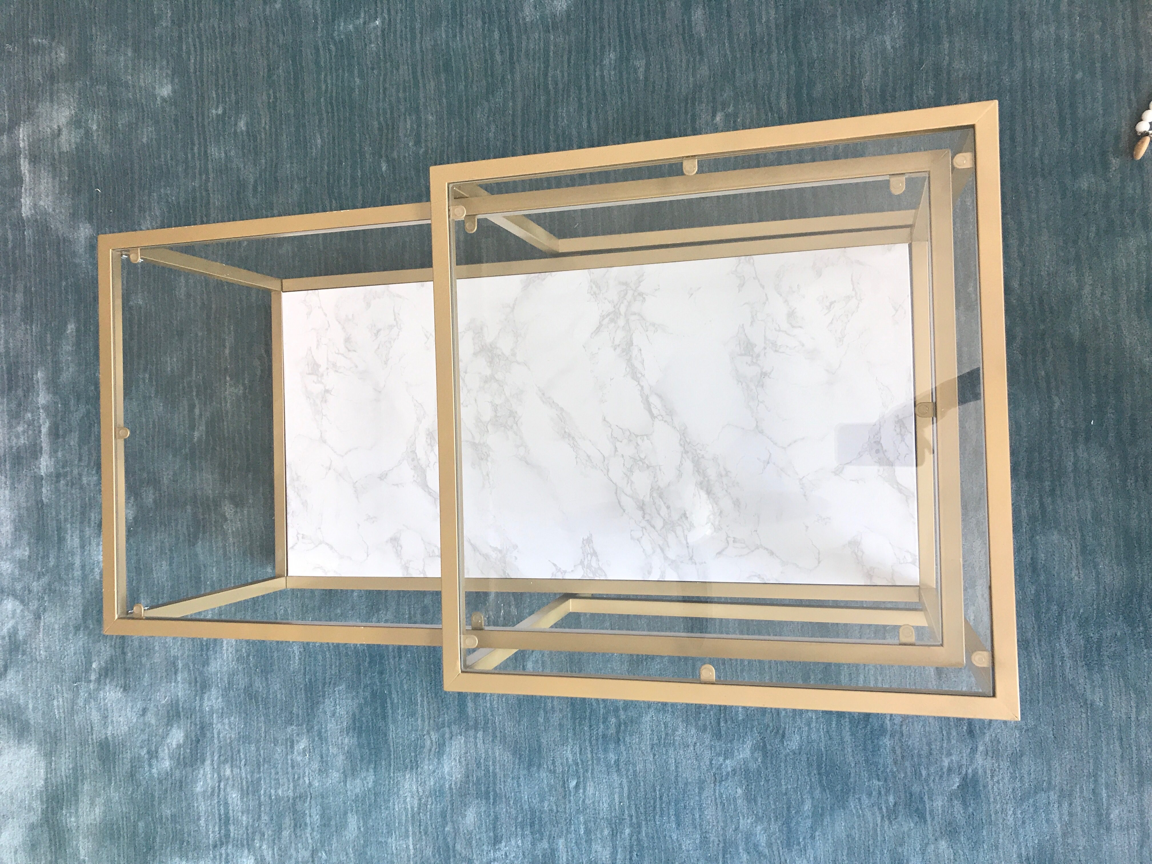Ikea Table Hack Gold & Marble DIY Tutorial Smudgey