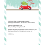 Free Printable Download for Elf on the Shelf – Travel Letter